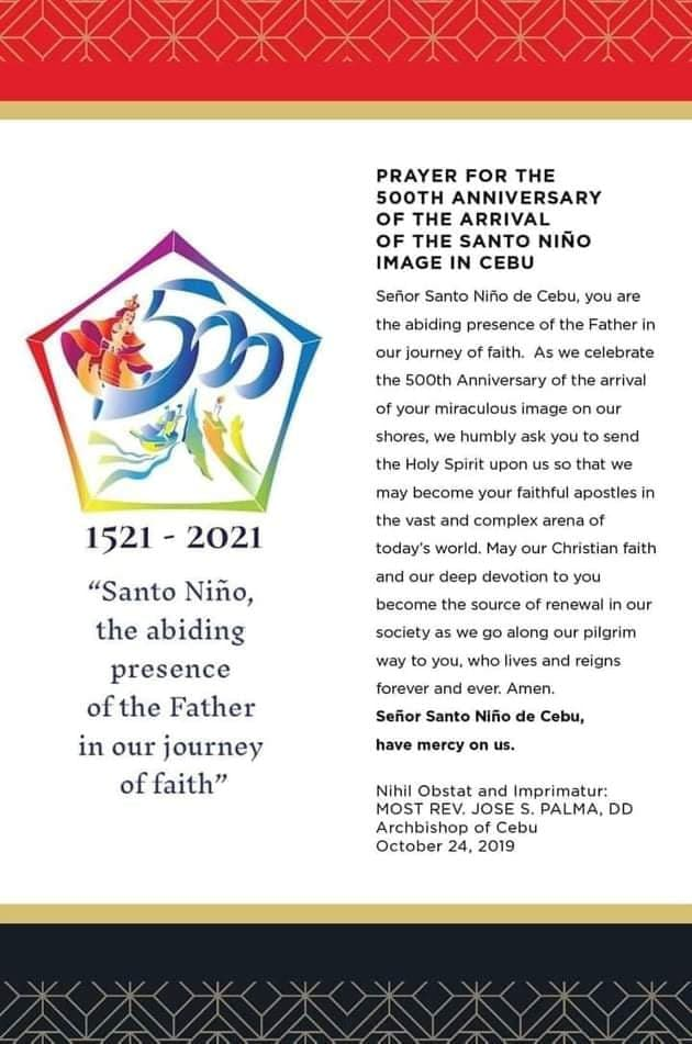 500th Anniversary Prayer